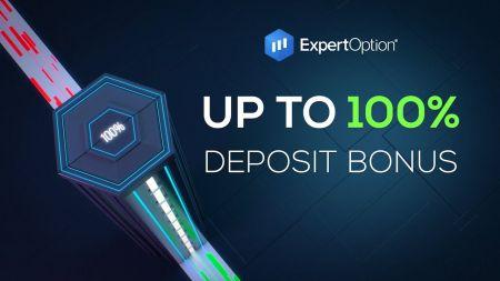 Promosi Selamat Datang ExpertOption - Bonus Setoran 100% Hingga $ 500